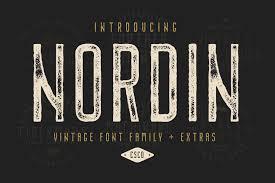 Latest Design Fonts Free Download Free Nordin Vintage Font Creativebooster