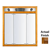 Medicine Cabinet With Light Shop Kraftmaid Formal 30 In X 35 In Square Surface Recessed