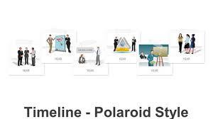 Timeline On Ppt Timeline Polaroid Style