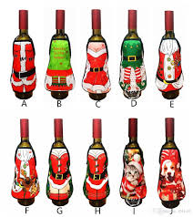 How To Decorate A Wine Bottle For Christmas 100 New Mini Christmas Apron Wine Bottle Cover For Christmas Home 94
