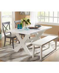white dining bench. Simple Living 4-piece Sumner Dining Set With Bench (1 White Table,