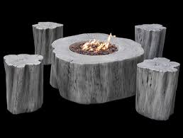 Set Gas Fire Pit Manchester With 4 Stools