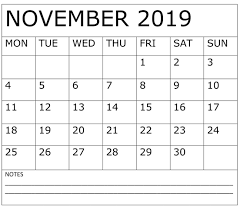 November November Calendar November 2019 Calendar Pdf Download Free Latest Calendar