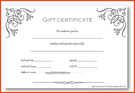 gift certificates format gift certificate template free word doc word templates gift