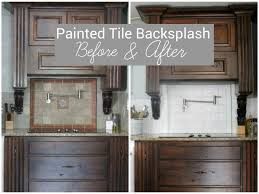 kitchen how to paint a backsplash to look like tile how to paint ceramic tile