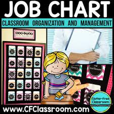 Job Chart Editable For Classroom Jobs