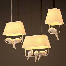 artistic lighting. Modern Resin Bird Hanging Light Industrial Fabric Shade Pendant Lamp Bedroom Foyer Balcony Dining Room Artistic Lighting