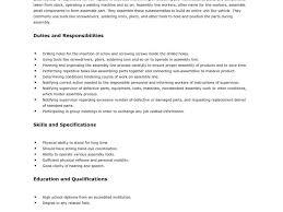 Download Sample Resume Factory Worker Haadyaooverbayresort Com