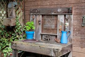 potting bench ideas to beautify your garden