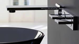 modern style wall mounted bathroom faucet black with black sinks