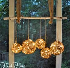 diy outdoor chandelier