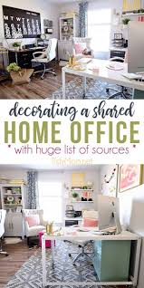 Decorate home office Beautifully Pinterestimage Decorating Shared Home Office Can Be Both Functional And Beautiful Not Only Does Tidymom Decorating Shared Home Office Tidymom