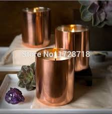copper plating cup NEW light candle mug antique color Candle holder with  copper soy candle cup