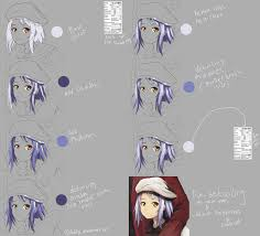 hair coloring tutorial paint tool sai by mouse by deddyz