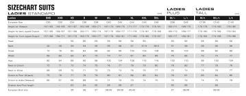 Competent Xxl Size Chart Ladies Measurement Chart For