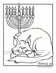 Hanukkah Coloring Pages Animals Celebrating Hanukkah Animal Jr