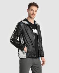 armani exchange men s black hooded jacket
