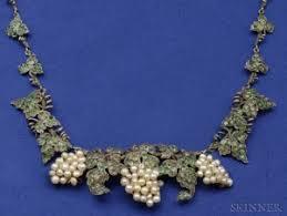 antique g vine necklace