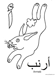 Learn the arabic letter ba. A Crafty Arab Arabic Alphabet Coloring Pages Alif Is For Arrnab Arabic Alphabet For Kids Alphabet For Kids Arabic Alphabet