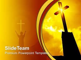 Christian Templates Jesus Christ Bible Powerpoint Templates Religious Cross