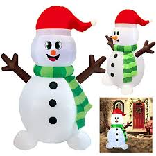 Joiedomi 5 Foot Snowman Inflatable LED Light Up Christmas Xmas for Blow Yard Decoration, Decorations Outdoor Snowman: Amazon.com