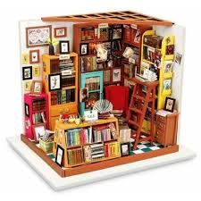 build dollhouse furniture. ROBOTIME Wooden DIY Dollhouse Furniture Kit Library; Cheap Build