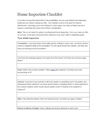 list of home inspection items 20 printable home inspection checklists word pdf template lab