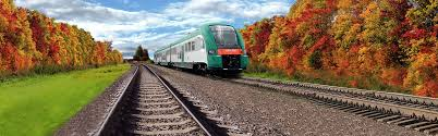 Железнодорожный транспорт Беларуси Дизель поезд серии ДП3 на маршруте Минск Пассажирский Национальный аэропорт Минск