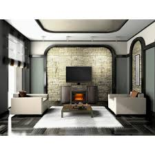 napoleon whitney 24 in mantel package electric fireplace in deep grey