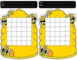 Bee Incentive Charts Bee Activities Bee Chart