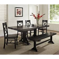 Dining Table And Chair Set Room Sets With Bench Black Chairs
