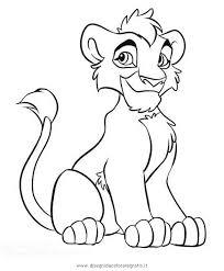 Disegno Releone Kovu Personaggio Cartone Animato Da Colorare Sketch
