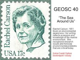 geosc ldquo the sea around us rdquo rachel carson book on environmental geosc 40 the sea around us rachel carson 1951 book on environmental awareness