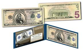 5 Dollar Design Details About Lincoln Porthole 1923 5 Silver Certificate Banknote Design On Modern 5 Us Bill