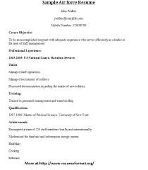 ... Sample Air force Resume Format | by Johnreese