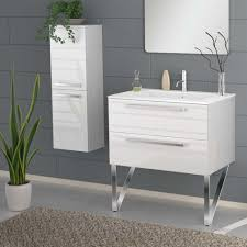 wall mounted bathroom vanity. Marvelous 34 Inch Bathroom Vanity With Modern Wall Mounted Bath White Glossy Finish High