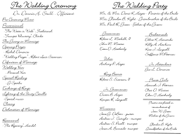 sample wedding ceremony program wedding program wording non religious svapop wedding wedding