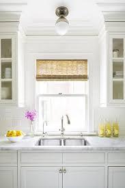 Fetching Flush Mount Lighting Over Kitchen Sink Dazzling