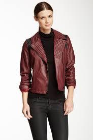 image of sam edelman vegan leather foam studded moto jacket