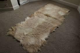 natural mixed goatskin rug mx3 137x61cm