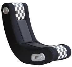 x rocker 5171101 drift wireless 2 1 sound gaming chair black white checd flag