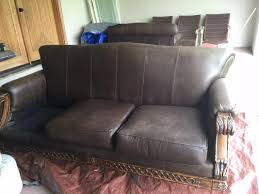 Leather Sofa Makeover Dyed Leather Couch Makeover Diyher