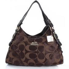 Coach Fashion Signature Medium Coffee Shoulder Bags ERG