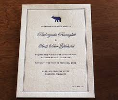 we have the perfect wedding invitation design for a multicultural Letterpress Wedding Invitations Free Samples formal thai elephant motif wedding letterpress invitations by invitations by ajalon Free Wedding Invitation Downloads