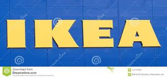 Ikea Logo Design Vilnius Lithuania April 19 2019 Ikea Logo Of Company On