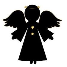 christmas angel silhouette clip art. Free Angel Clip Art Image Christmas In Silhouette Throughout