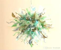 blue art glass pendant lights mini artistic hampton modern chandeliers lighting lamps fade charming our products