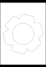 Kindergarten Picture Tracing Flower | Preschool Worksheets ...