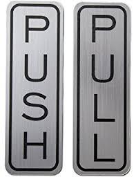 pull door sign. Unique Pull Classic Vertical Push Pull Door Sign Brushed Silver  Medium And P
