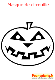 Halloween Coloriage Masque Citrouille Enfant Fabrication Masques